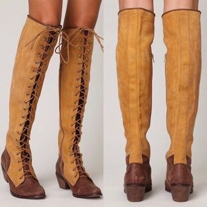 Jeffrey Campbell x Free People knee high boot